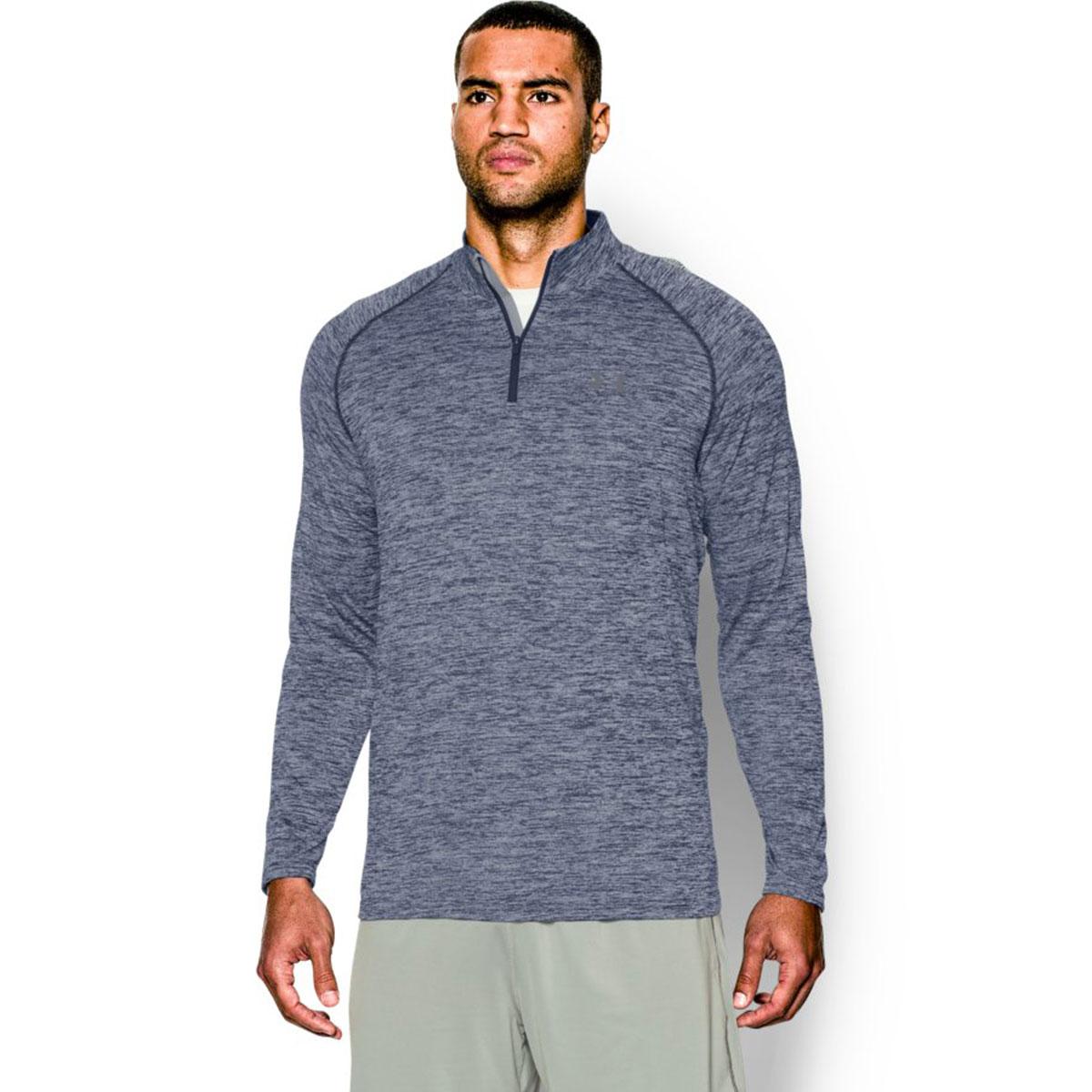 Under-Armour-Mens-UA-Tech-1-4-Zip-Long-Sleeve-Top-Gym-Shirt-Workout-Layer