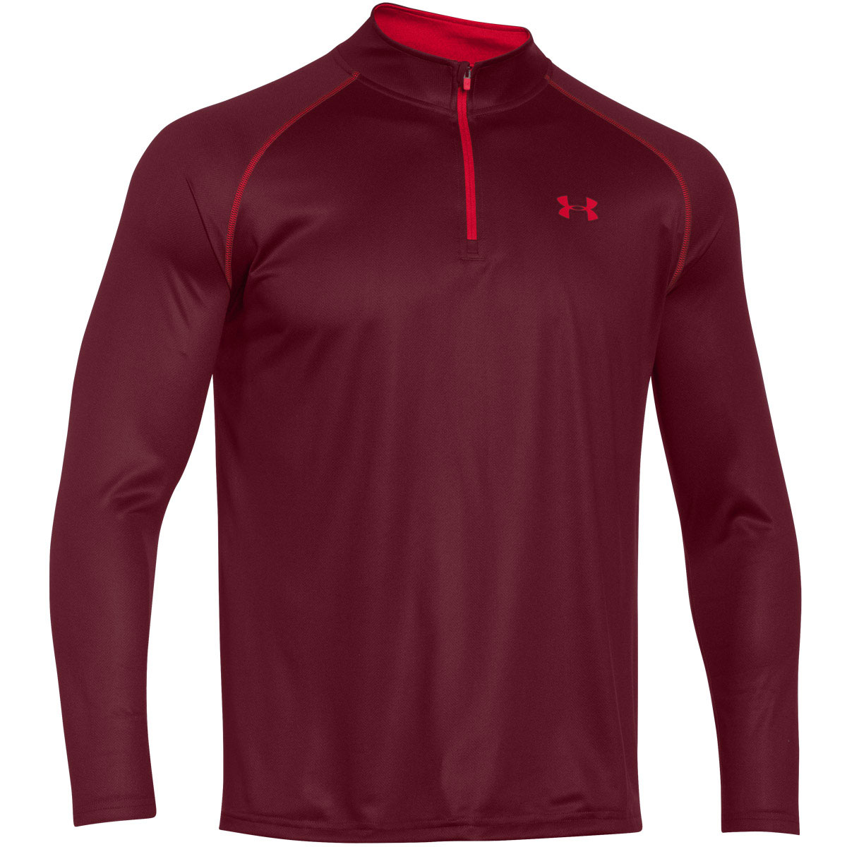 Under armour mens ua tech 1 4 zip long sleeve top gym for Under armour i will shirt