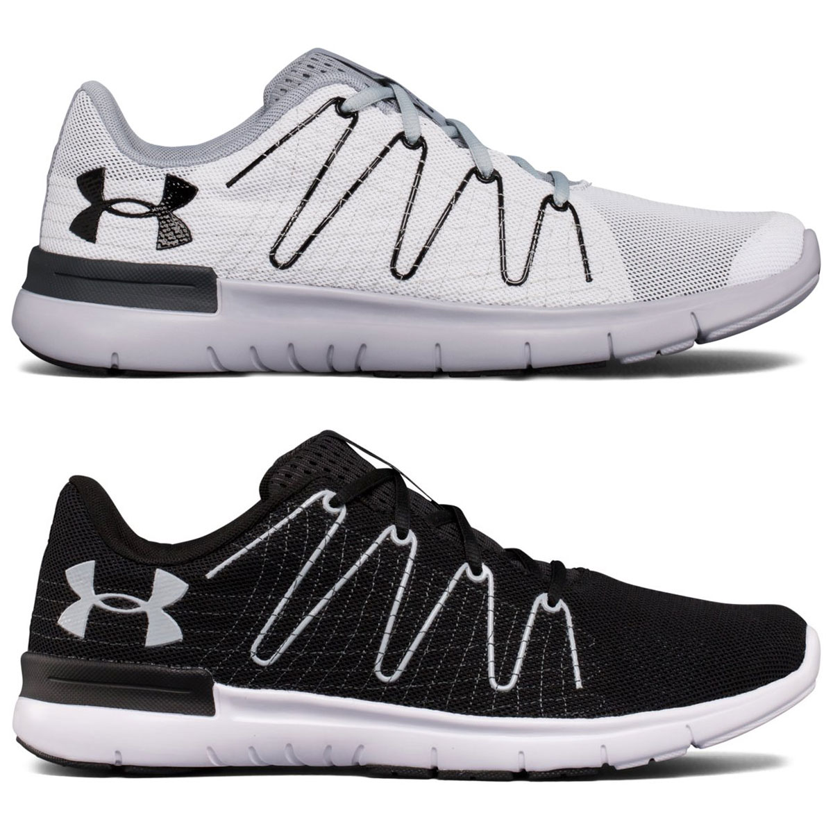 new style 0772e 15c3e Details about Under Armour Mens UA Thrill 3 Running Trainers - Black/White  - UK 10.5