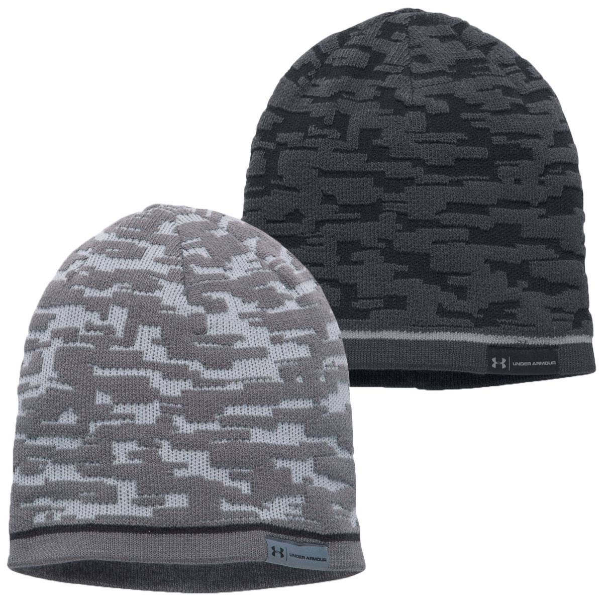 Details about Under Armour Mens UA Rev Graphic Beanie Winter Wooly Hat 3f17764807f