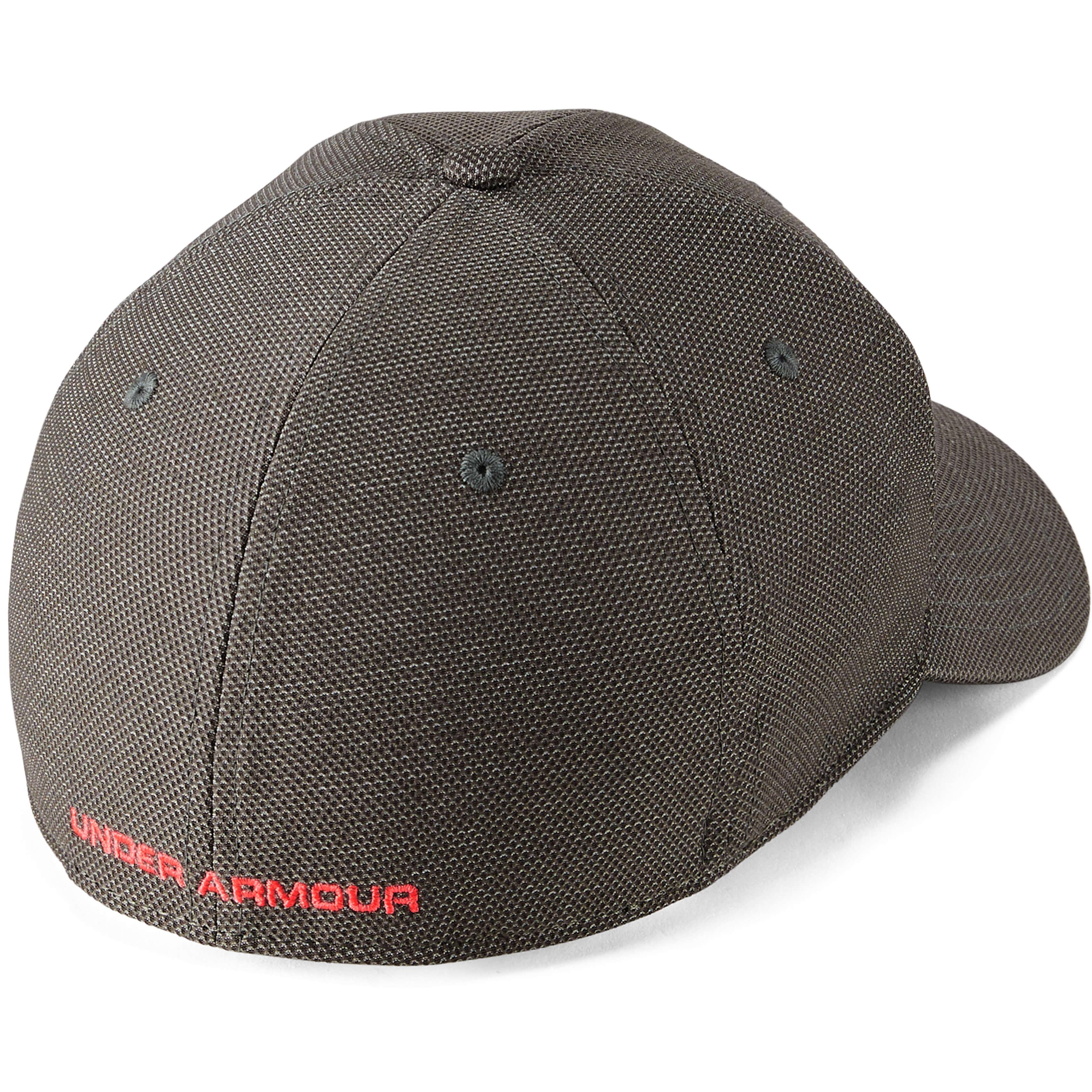 Under-Armour-Gris-Blitzing-3-0-Golf-HeatGear-Coupe-Extensible-Chapeau-Bonnet miniature 5
