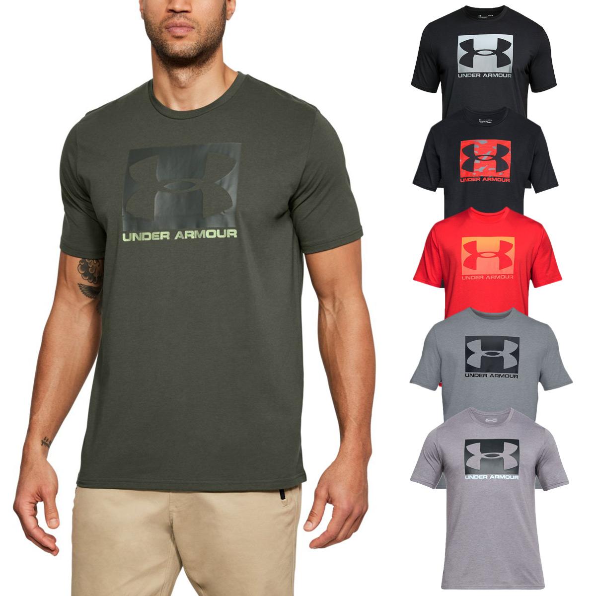 Détails sur Under armour Hommes Ua Emballé Style Sport Chargé Coton Extensible Ss T Shirt
