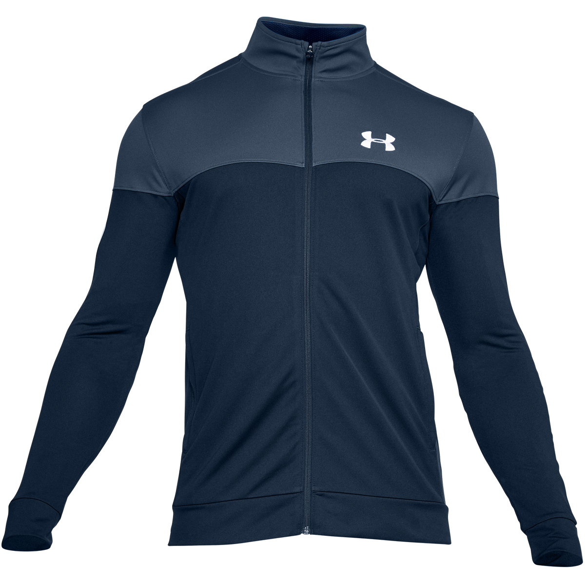 Under-Armour-Mens-2019-Sportstyle-Pique-Sports-Training-Full-Zip-Track-Jacket thumbnail 3
