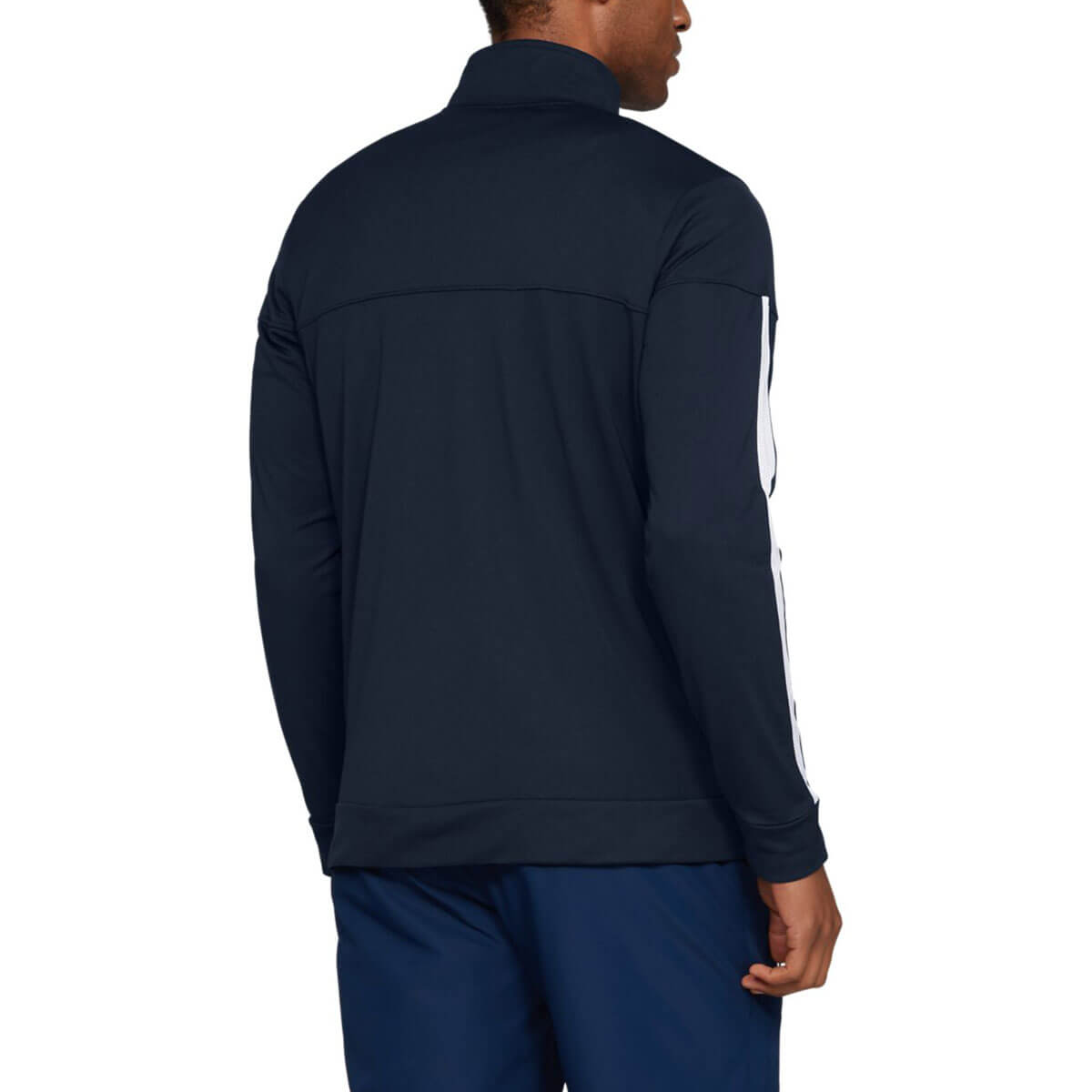 Under-Armour-Mens-2019-Sportstyle-Pique-Stretch-Quick-Dry-Wicking-Fleece-Jacket miniatura 3