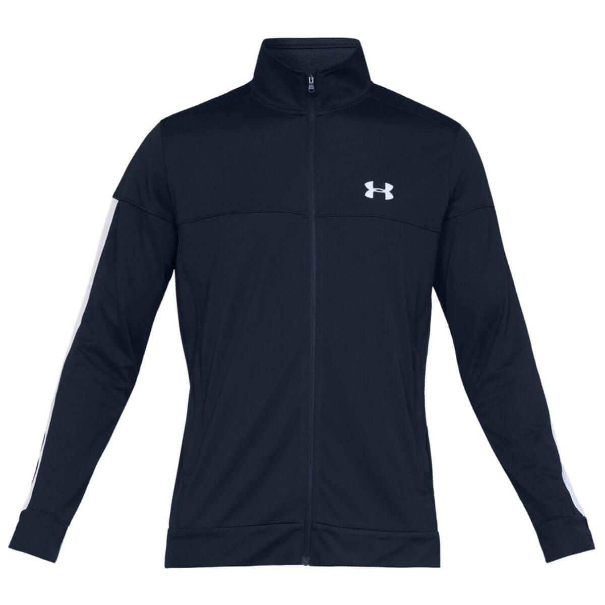 Under-Armour-Mens-2019-Sportstyle-Pique-Stretch-Quick-Dry-Wicking-Fleece-Jacket miniatura 4