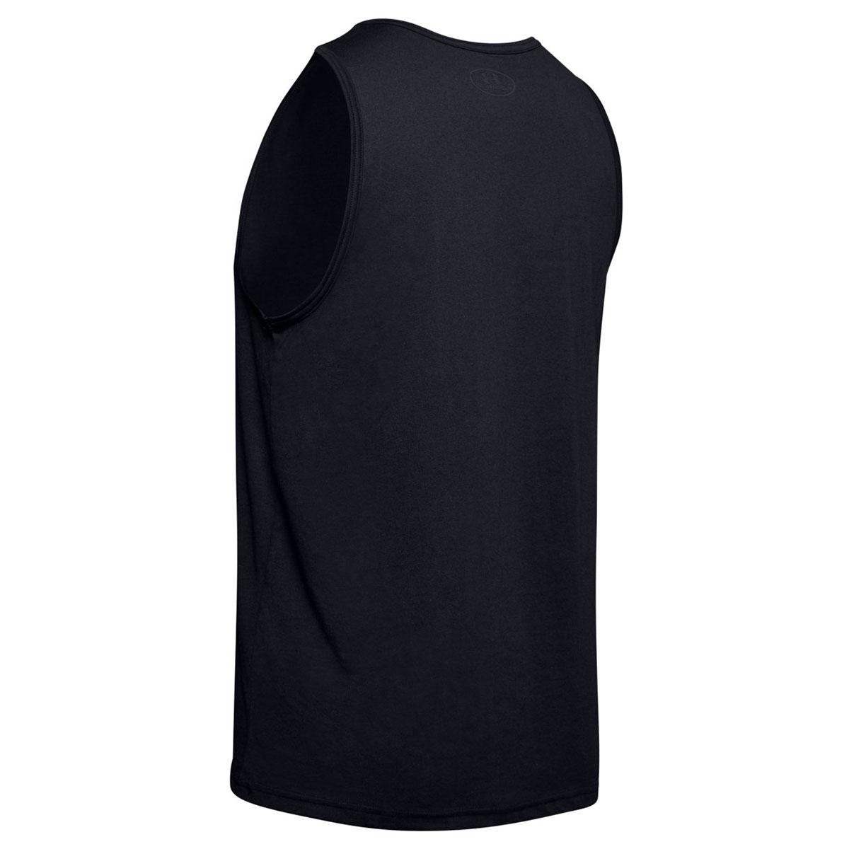 Under-Armour-Mens-2019-Sportstyle-Logo-Tank-Soft-Sleeveless-Cotton-Vest Indexbild 4