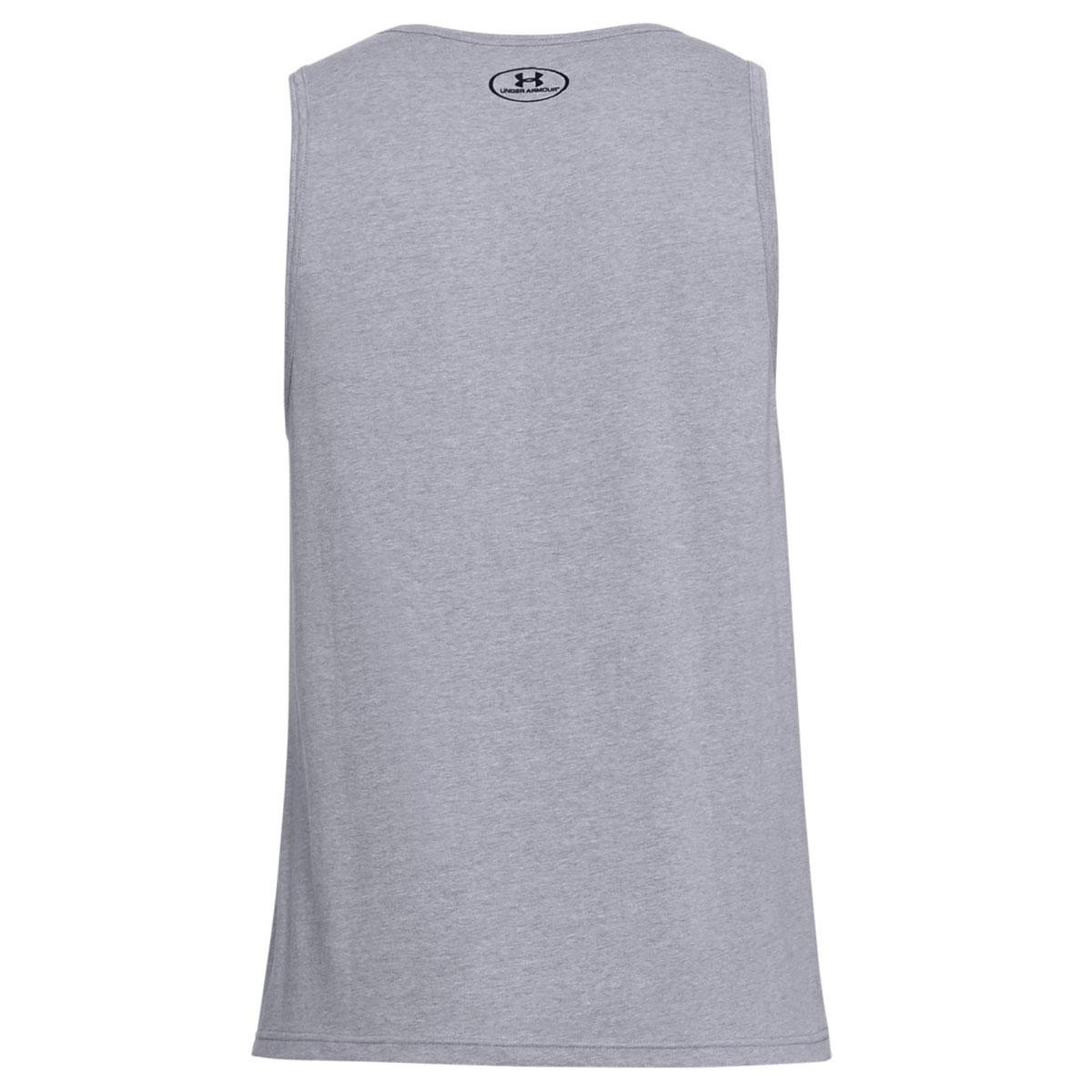 Under-Armour-Mens-2019-Sportstyle-Logo-Tank-Soft-Sleeveless-Cotton-Vest Indexbild 6