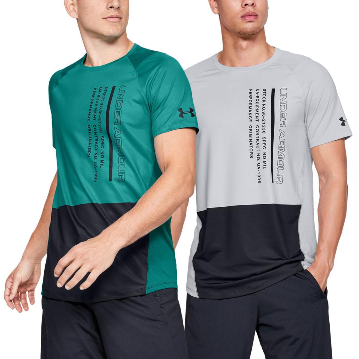 7a5224e798 Details about Under Armour Mens 2019 Mk1 Short Sleeve Colorblock Wicking  HeatGear T-Shirt
