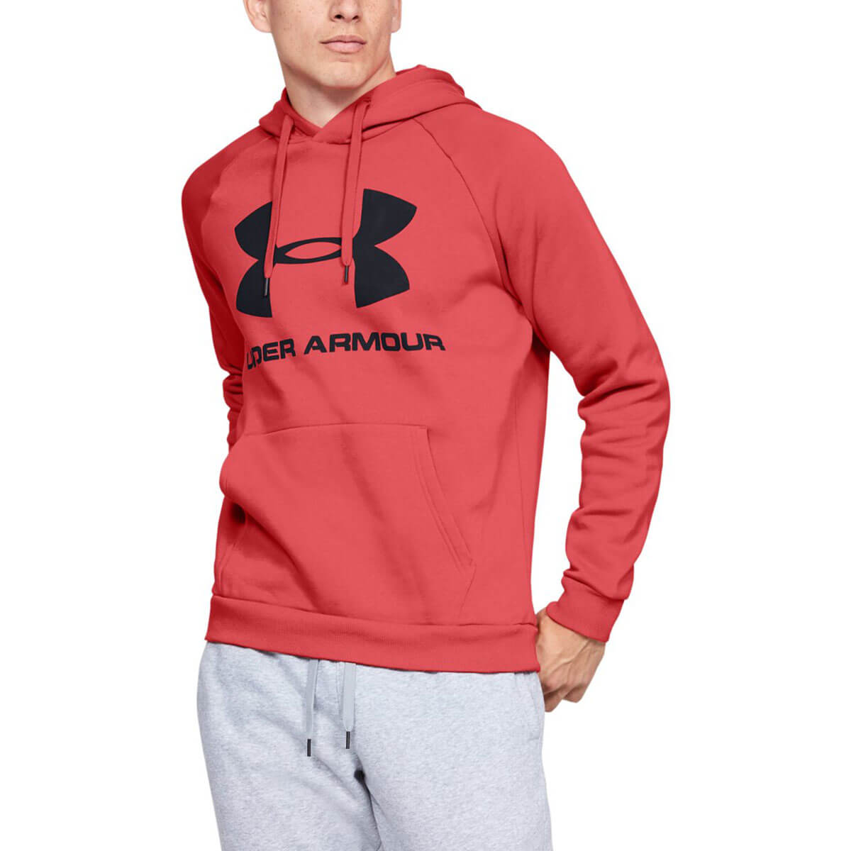 Details about Under Armour Mens 2020 Rival Fleece Sportstyle Logo Quick Dry Hoodie Hoody