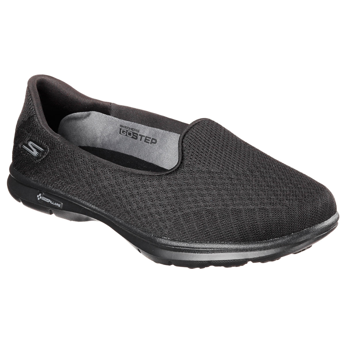 a889e1aa1438 Details about Skechers Womens Go Step - Elated Slip On Walking Training Shoes  Trainers