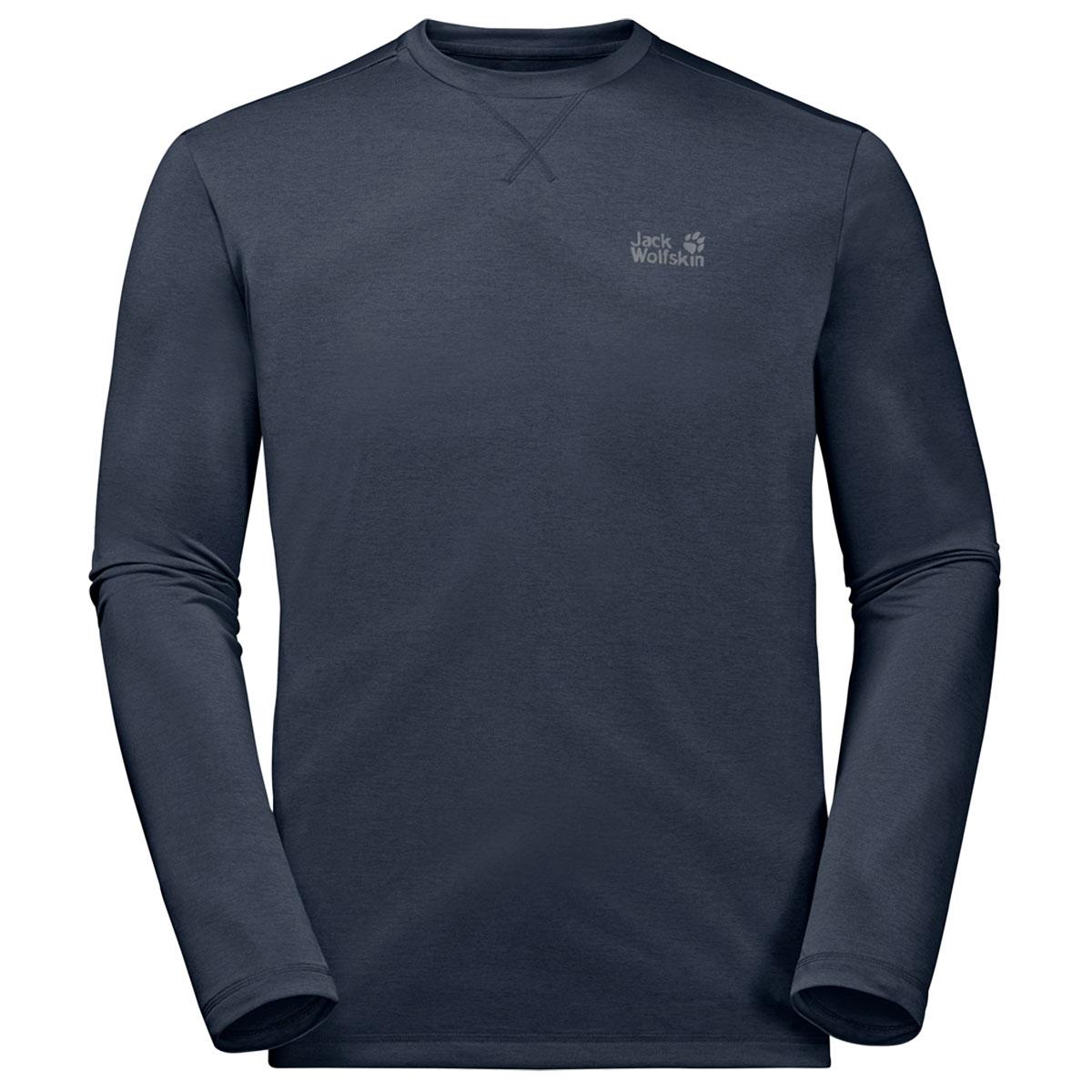 Details zu Jack wolfskin Herren Crosstail Langärmelig Rundhals Leicht T Shirt Top