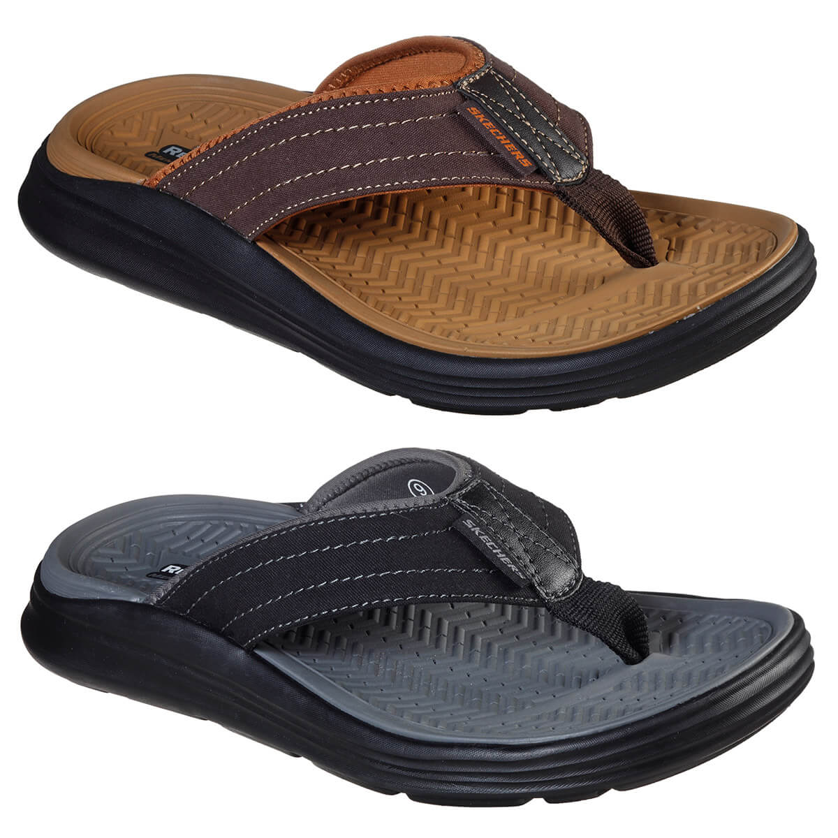 skechers memory foam sandals mens