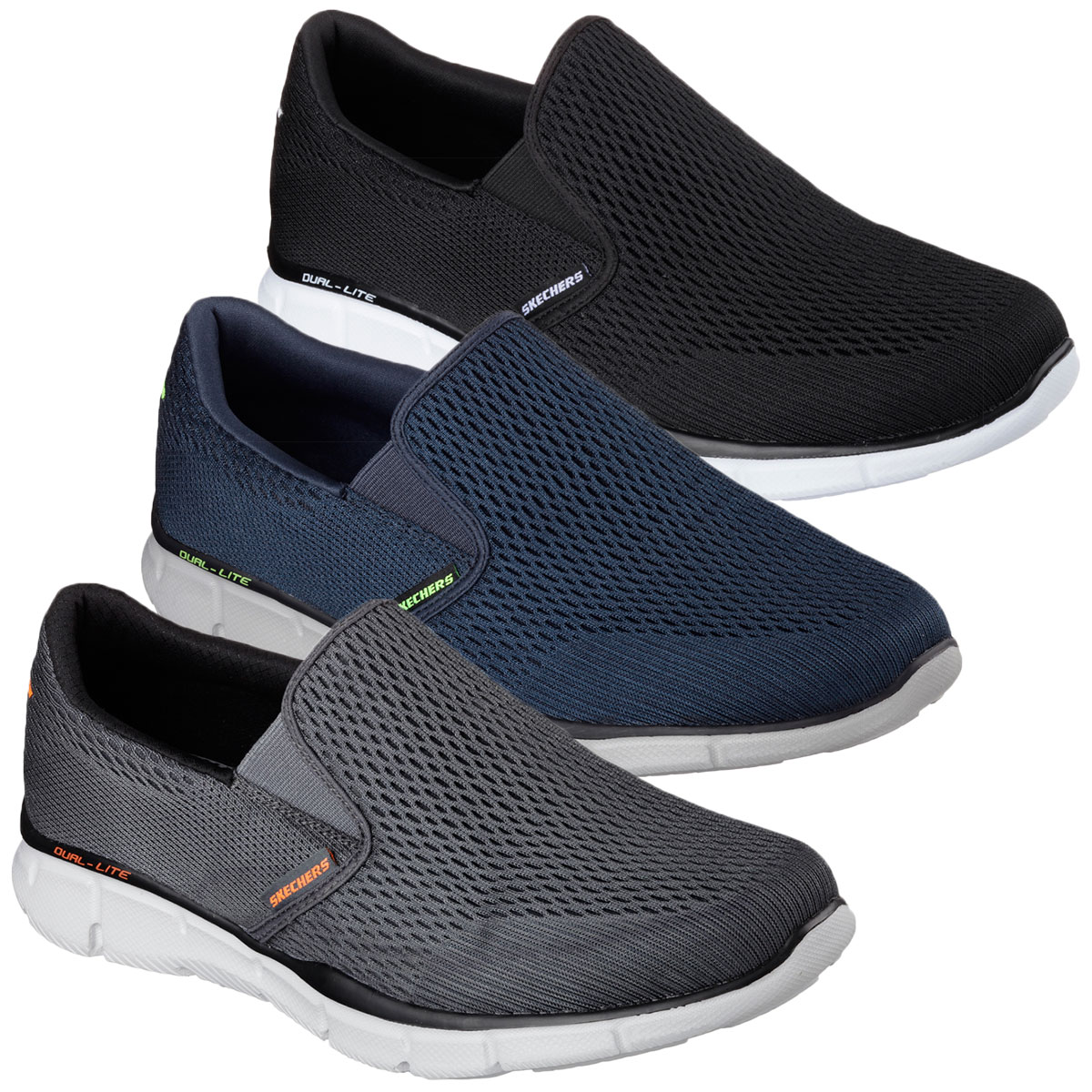 111e12f6fd7f Details about Skechers Mens Equalizer Double Play Slip On Sports Training  Shoes Trainers