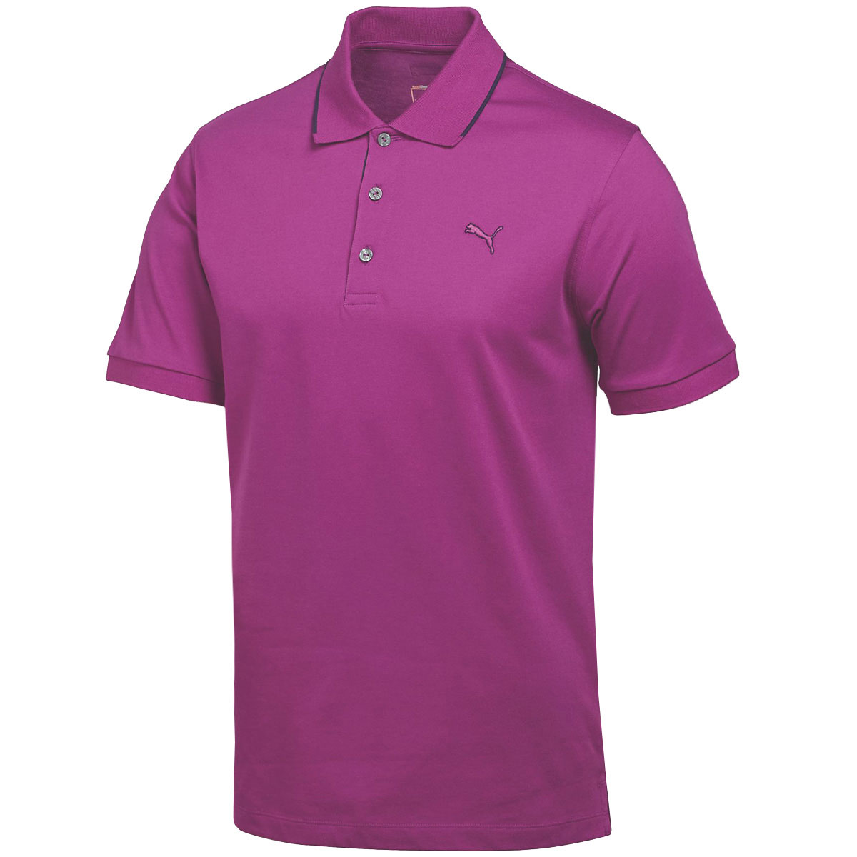 Puma golf mens cotton solid polo shirt drycell tech for Mens puma golf shirts