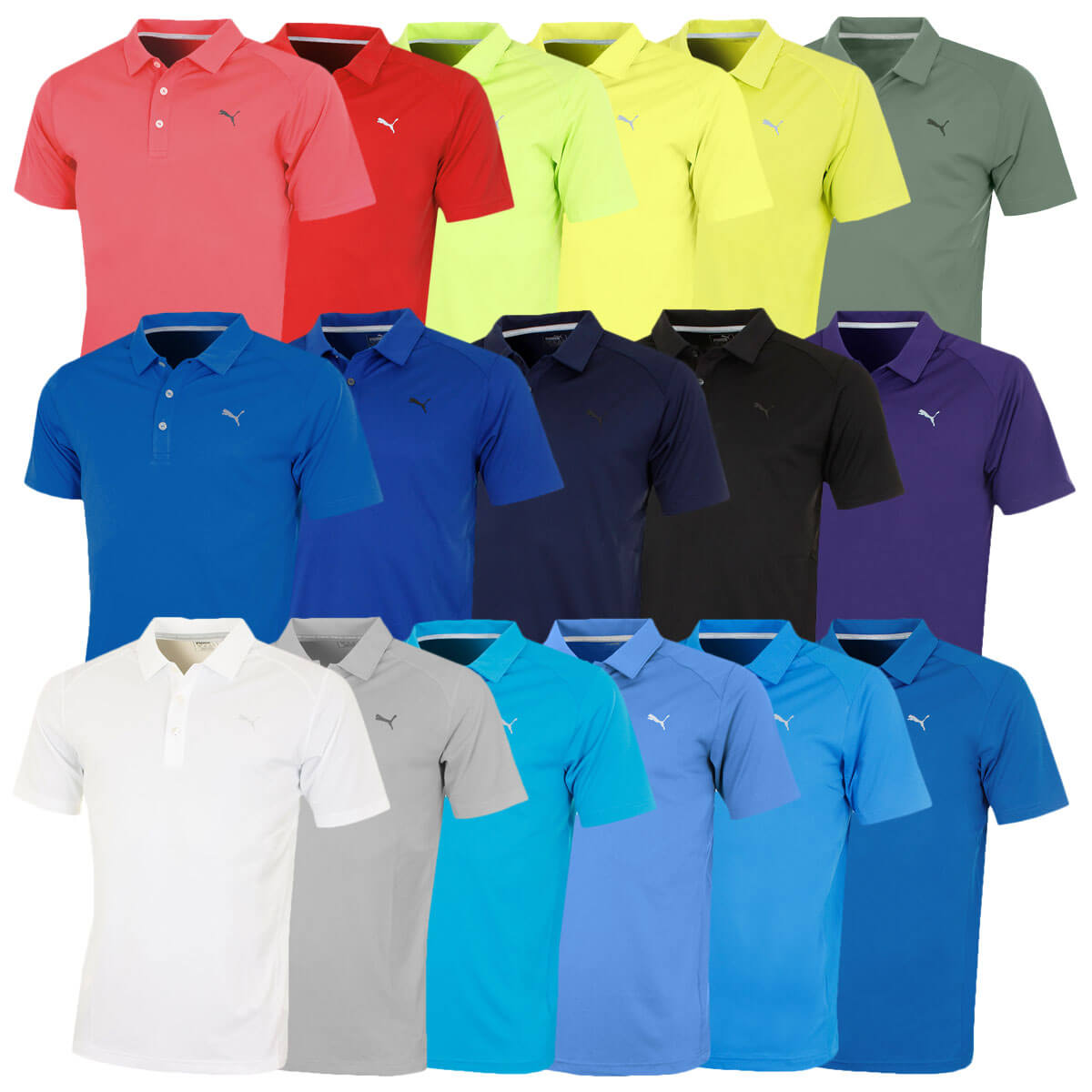 wholesale huge discount reasonable price Puma Golf Mens Essential Pounce Polo Shirt DryCell Lightweight ...