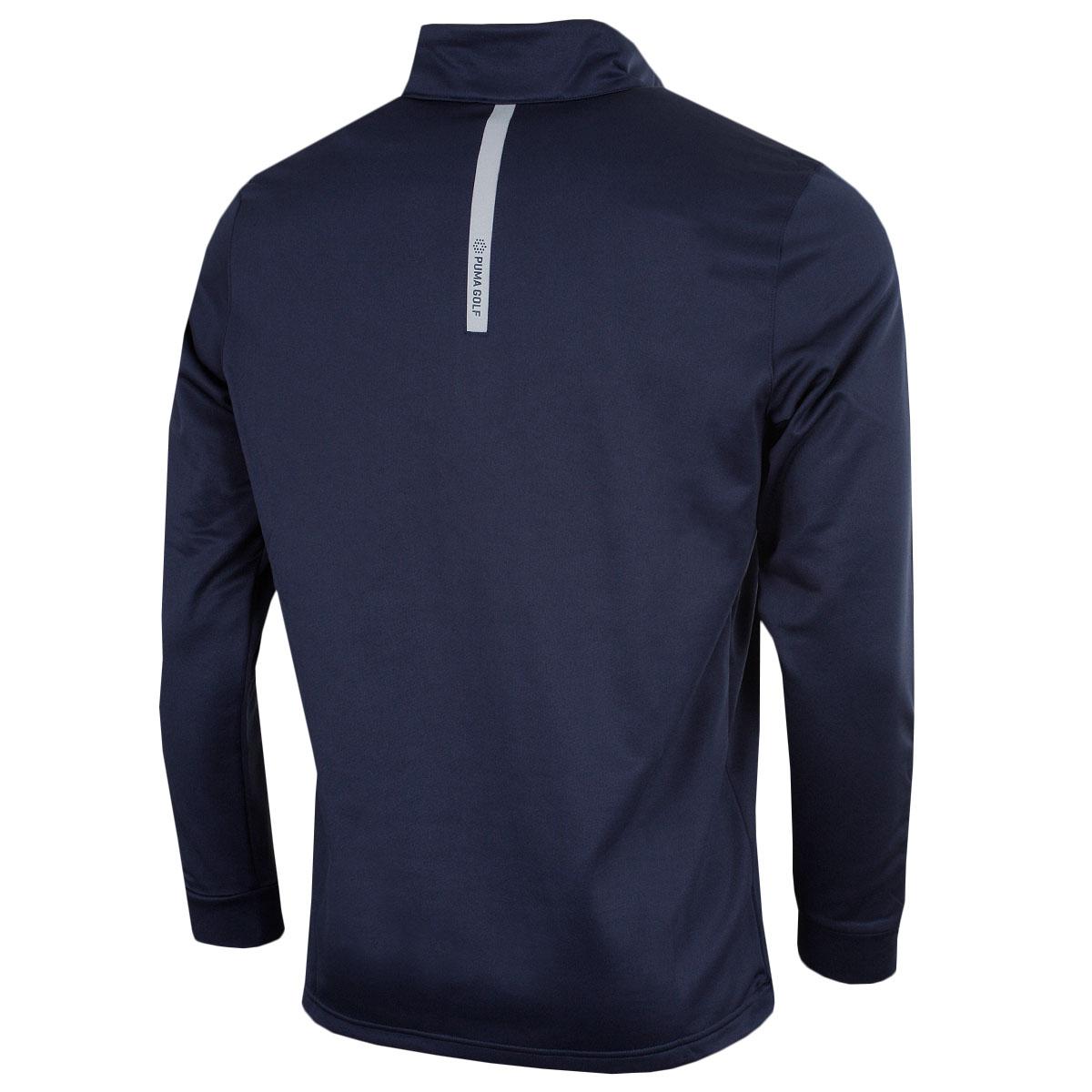 Puma-Golf-Mens-Midweight-1-4-Zip-Moisture-Wicking-WarmCELL-Fleece-46-OFF-RRP thumbnail 3