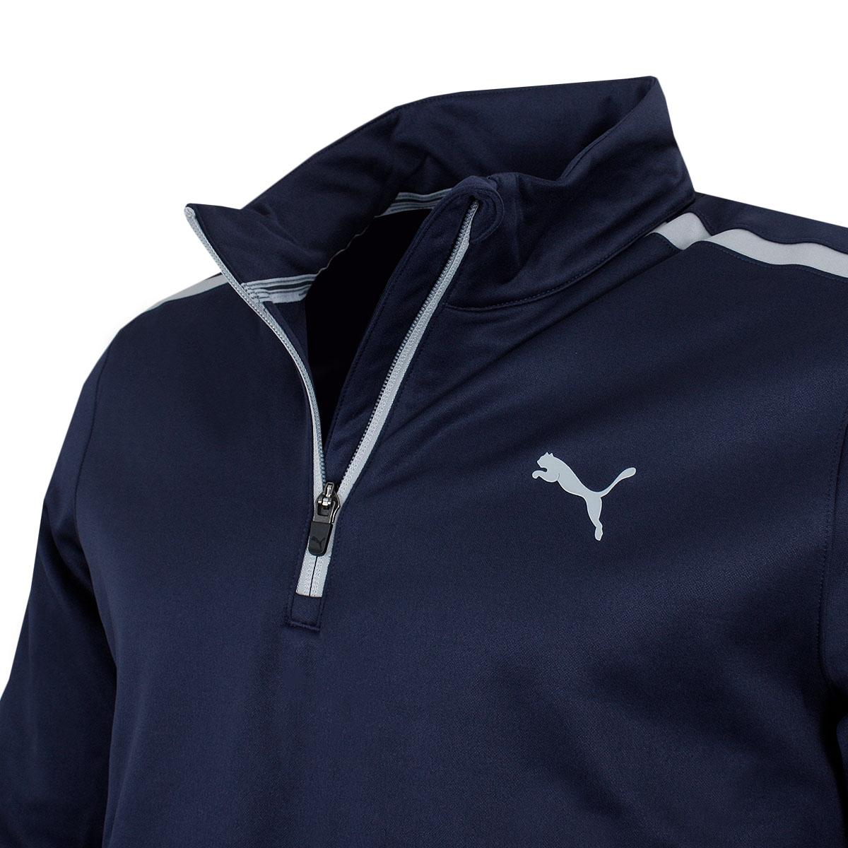 Puma-Golf-Mens-Midweight-1-4-Zip-Moisture-Wicking-WarmCELL-Fleece-46-OFF-RRP thumbnail 4