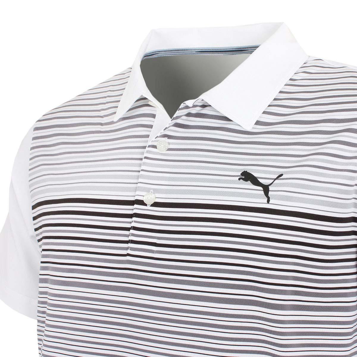 Puma-Golf-Mens-Highlight-Stripe-DryCELL-UPF-40-Stretch-Polo-Shirt thumbnail 15