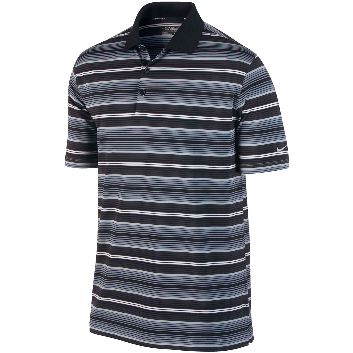Nike Golf 2014 Mens Dri Fit Key Stretch UV Stripe Golf ...