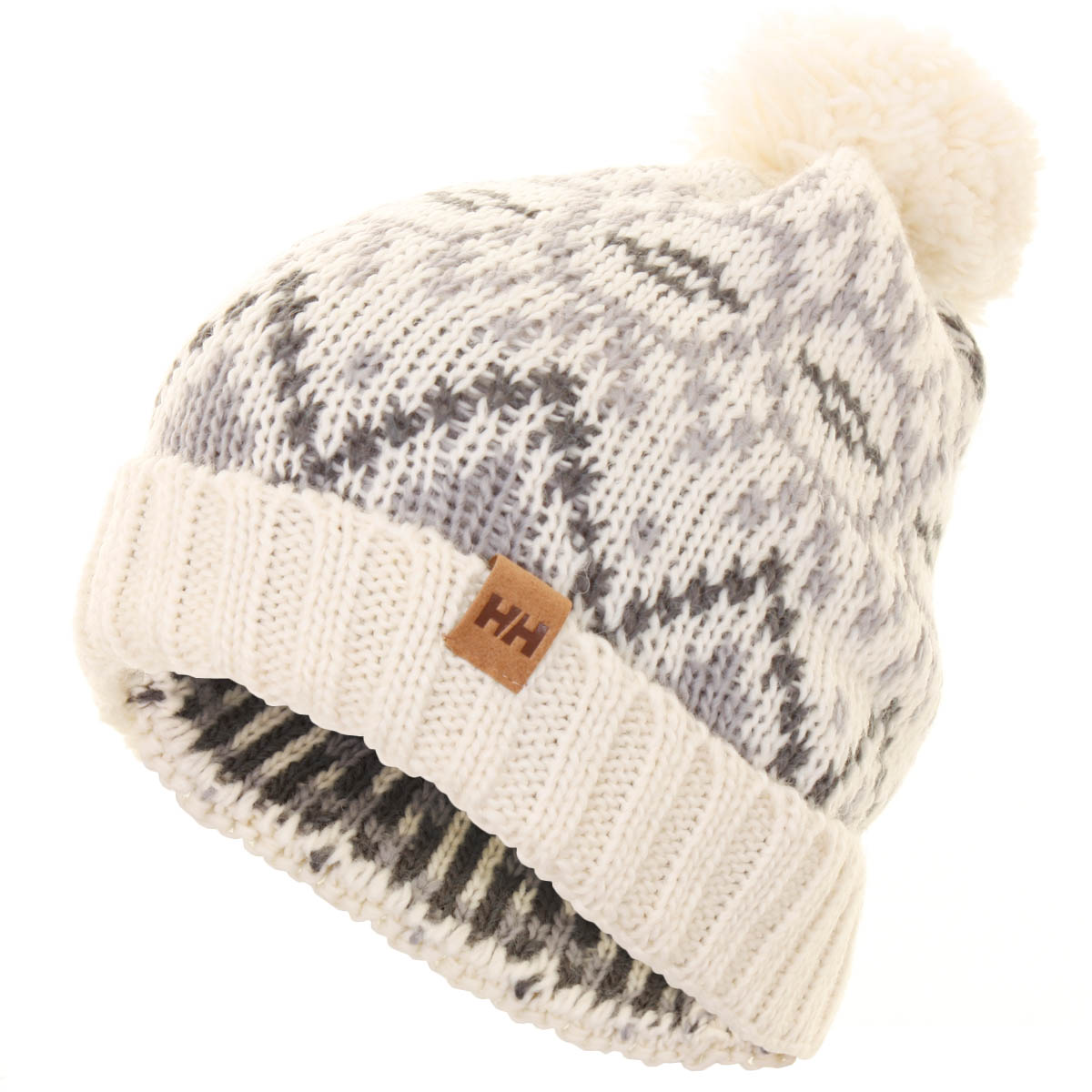 Womens Wooly Hat Uk - Parchment N Lead bd5df8b873