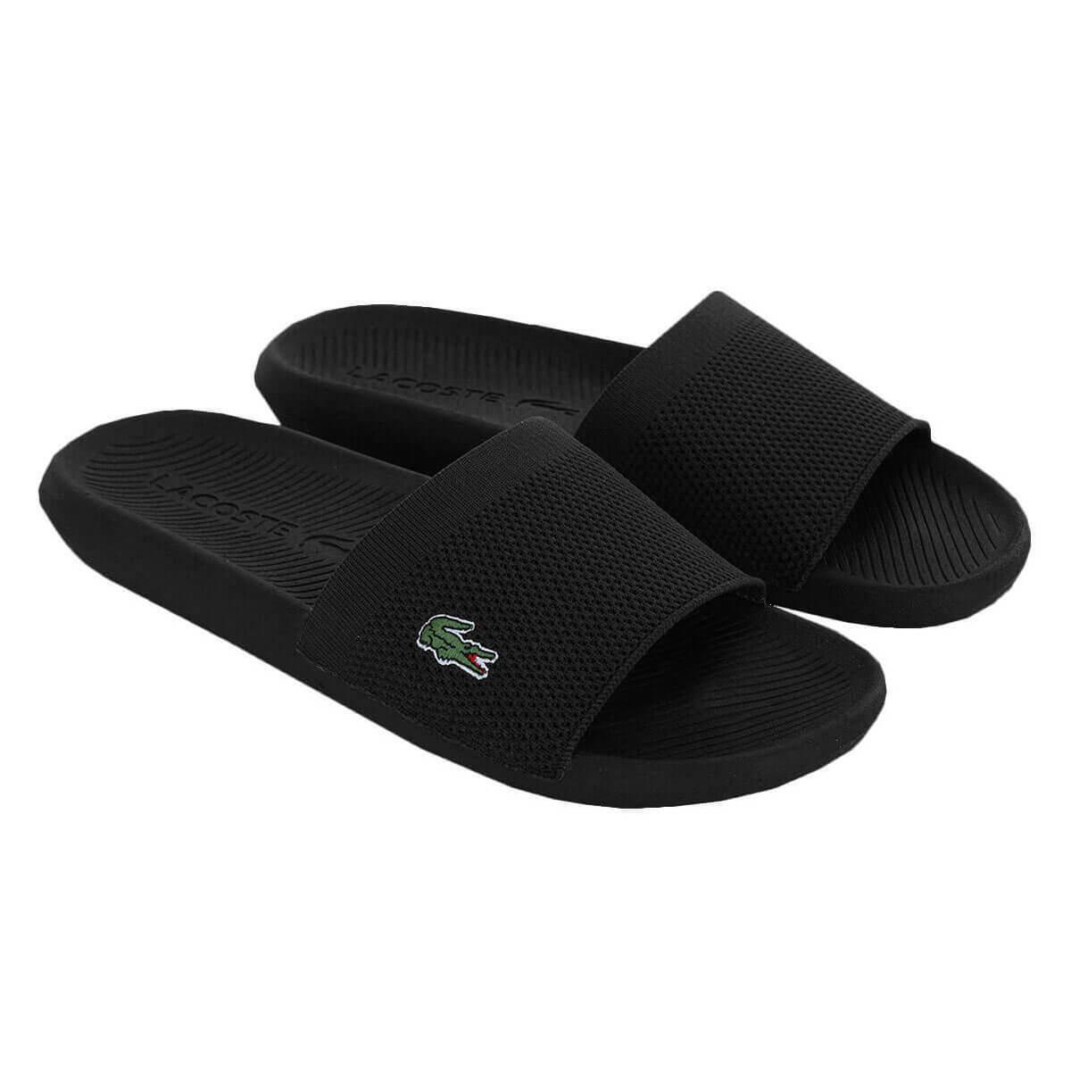 Lacoste-Mens-2019-Croco-Slide-219-2-US-CMA-Flip-Flops miniature 3