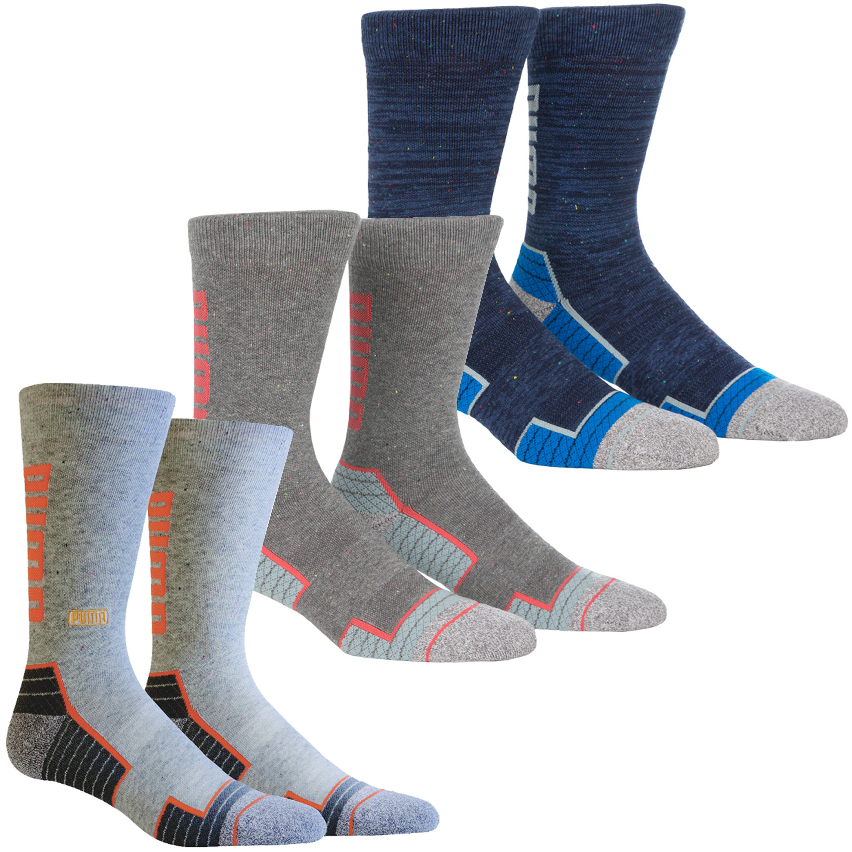 Details about Puma Golf Mens Fusion Wordmark Moisture Wicking Comfort Crew  Socks