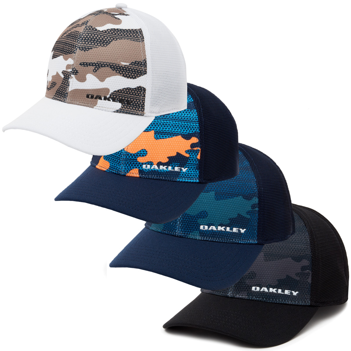 59128a61e Details about Oakley Mens Silicon Bark Trucker Print 2.0 Stretch Cap 48%  OFF RRP