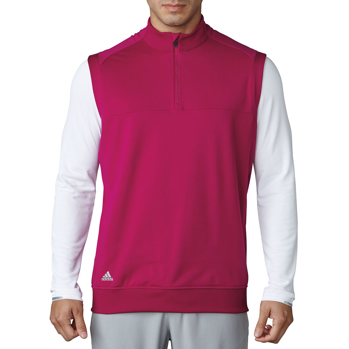 Adidas Golf 2017 Mens 1/4 Zip Club Vest Pullover Stretch ...