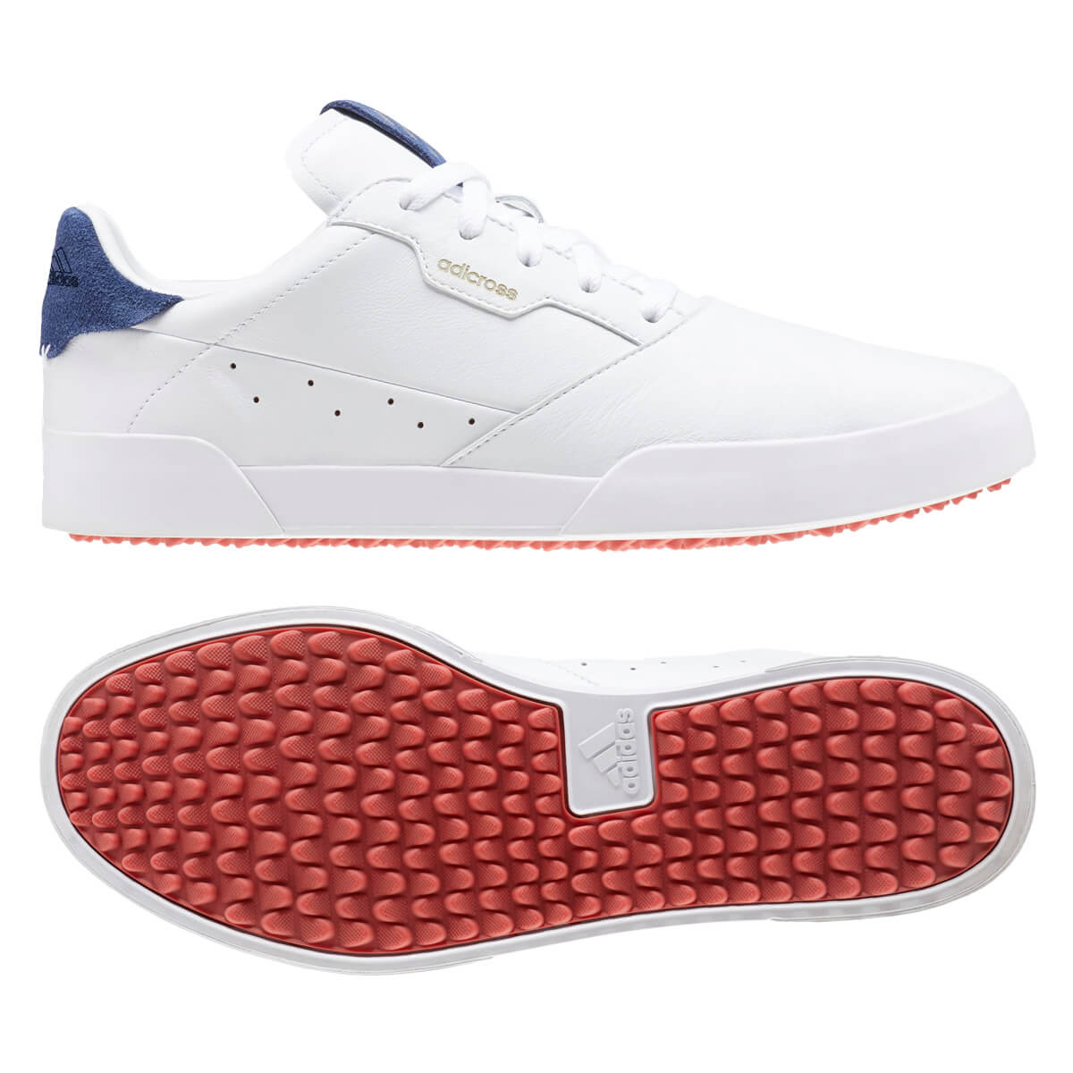 adidas Golf Mens 2021 Adicross Retro Spikeless Waterproof Leather ...