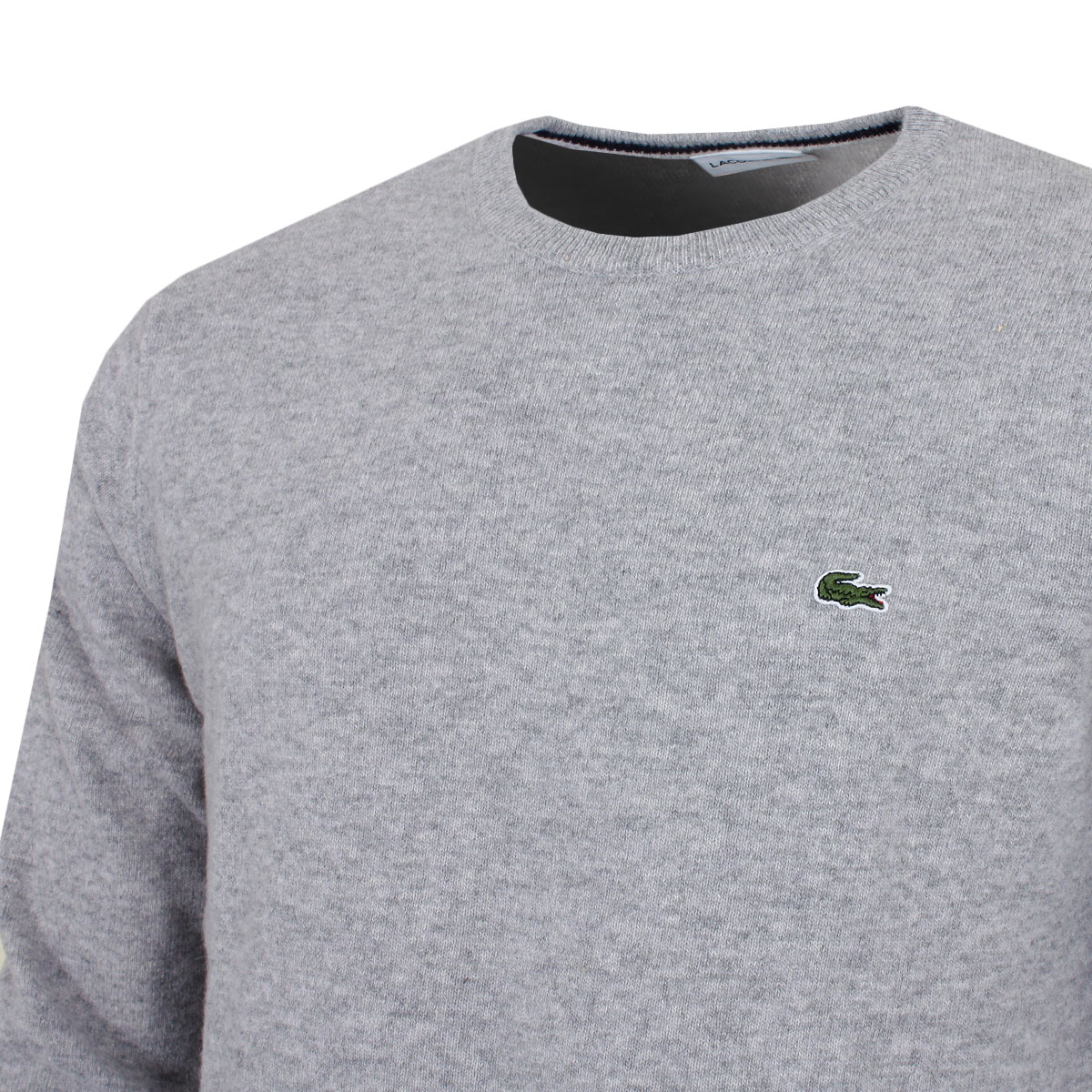 20e5e0779801a Lacoste Mens AH0841 Crew Neck Durable Classic Comfort Wool Jersey ...