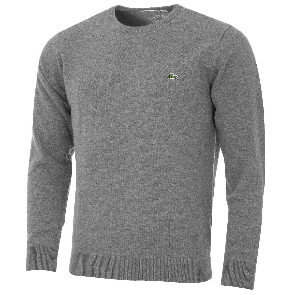 Lacoste Mens Crew Neck Wool Jersey Sweater AH2995 Pullover Classic Jumper;  Picture 2 of 3 ...