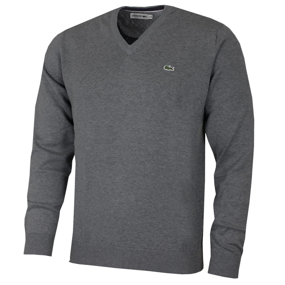 Lacoste-Mens-AH7369-V-Neck-Cotton-Sweater-Pullover-Jumper-25-OFF-RRP