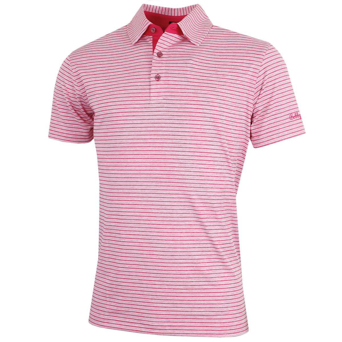 Bobby-Jones-Hombre-XH20-Sutton-Camisa-Polo-Golf-Rayas-71-sin-Mangas