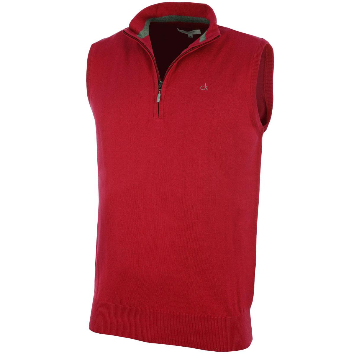 Calvin Klein Golf Mens CK V Neck Sleeveless Sweater Vest Gilet 27 ...