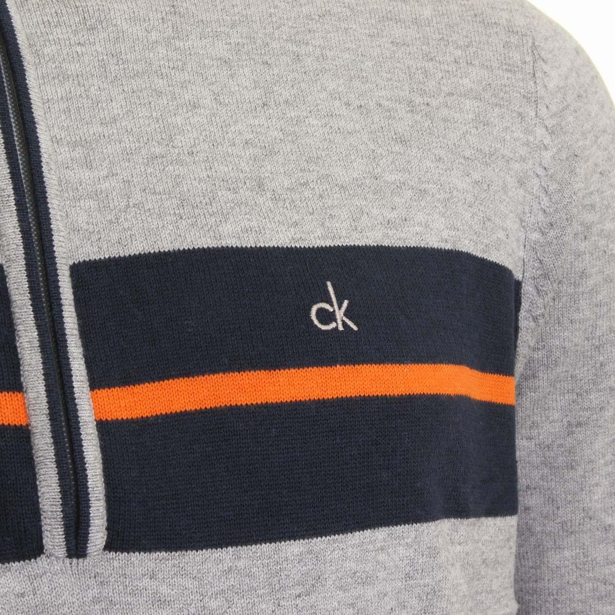 Calvin-Klein-Golf-Mens-CK-Vertex-Half-Zip-Neck-Sweater-Pullover-33-OFF-RRP thumbnail 8