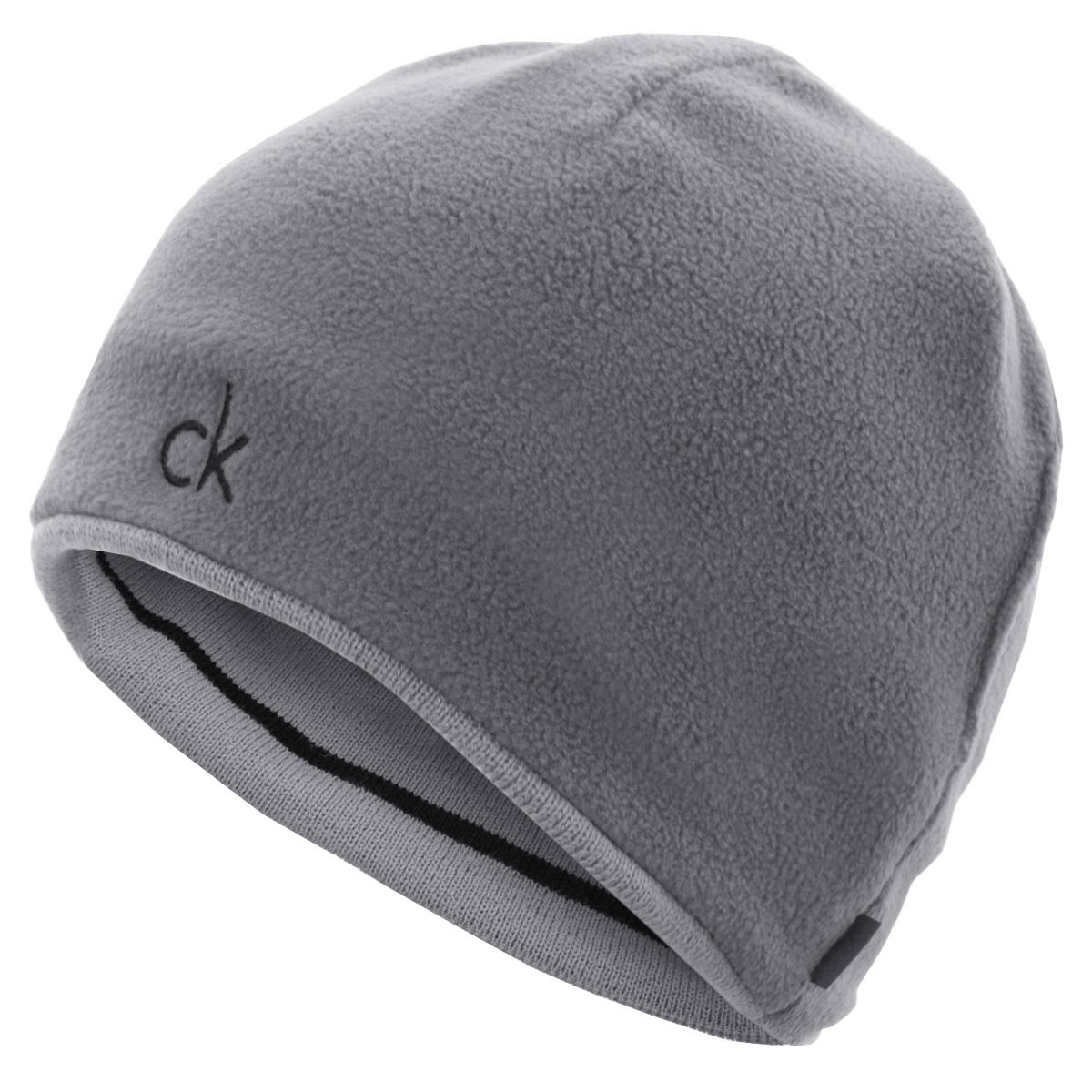 df6be3a2 Details about Calvin Klein Mens CK Reversible Knit Beanie Hat - Black/Silver  - One Size