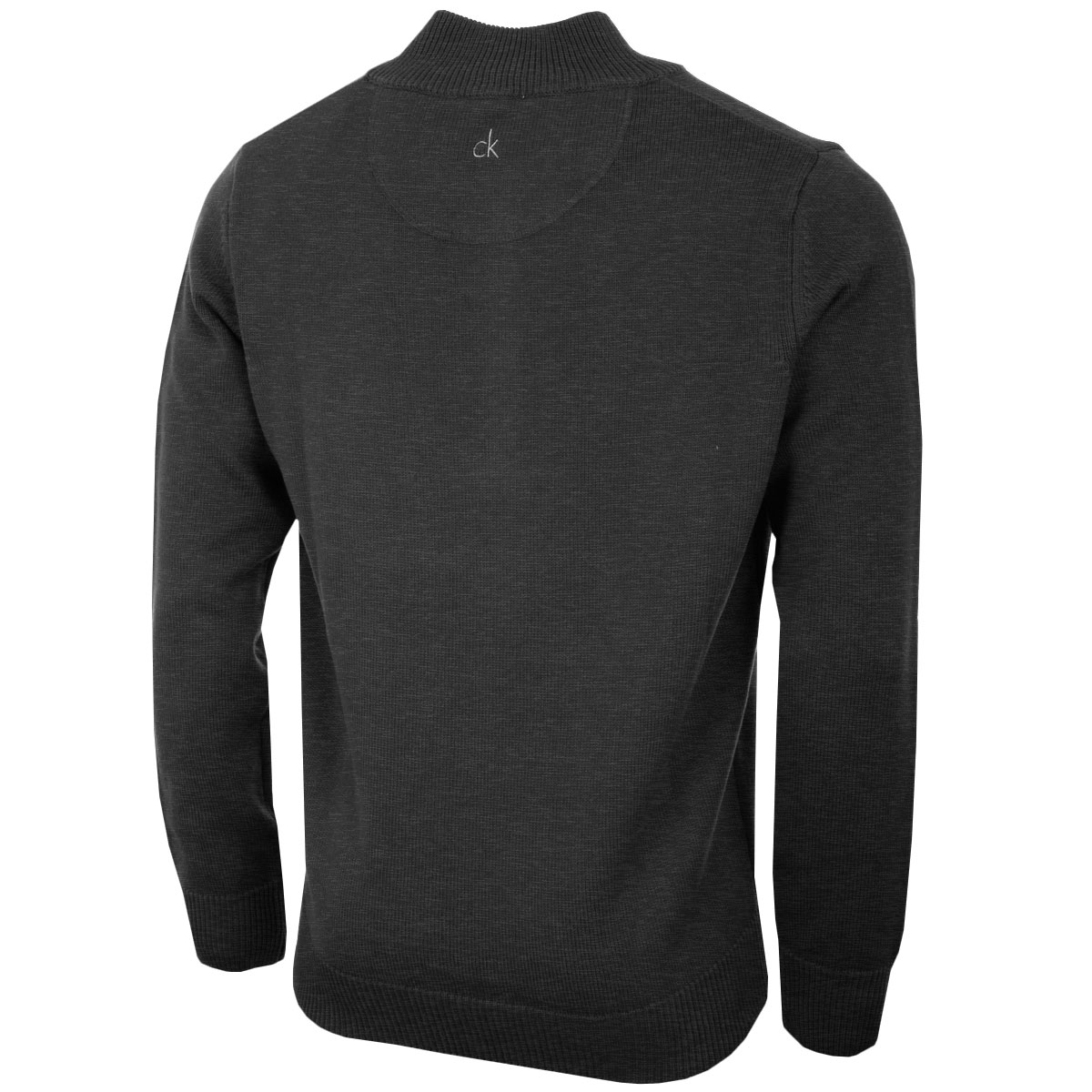 Calvin-Klein-Golf-Mens-2019-Chunky-Cotton-1-2-Zip-Golf-Top-Sweater-37-OFF-RRP thumbnail 3