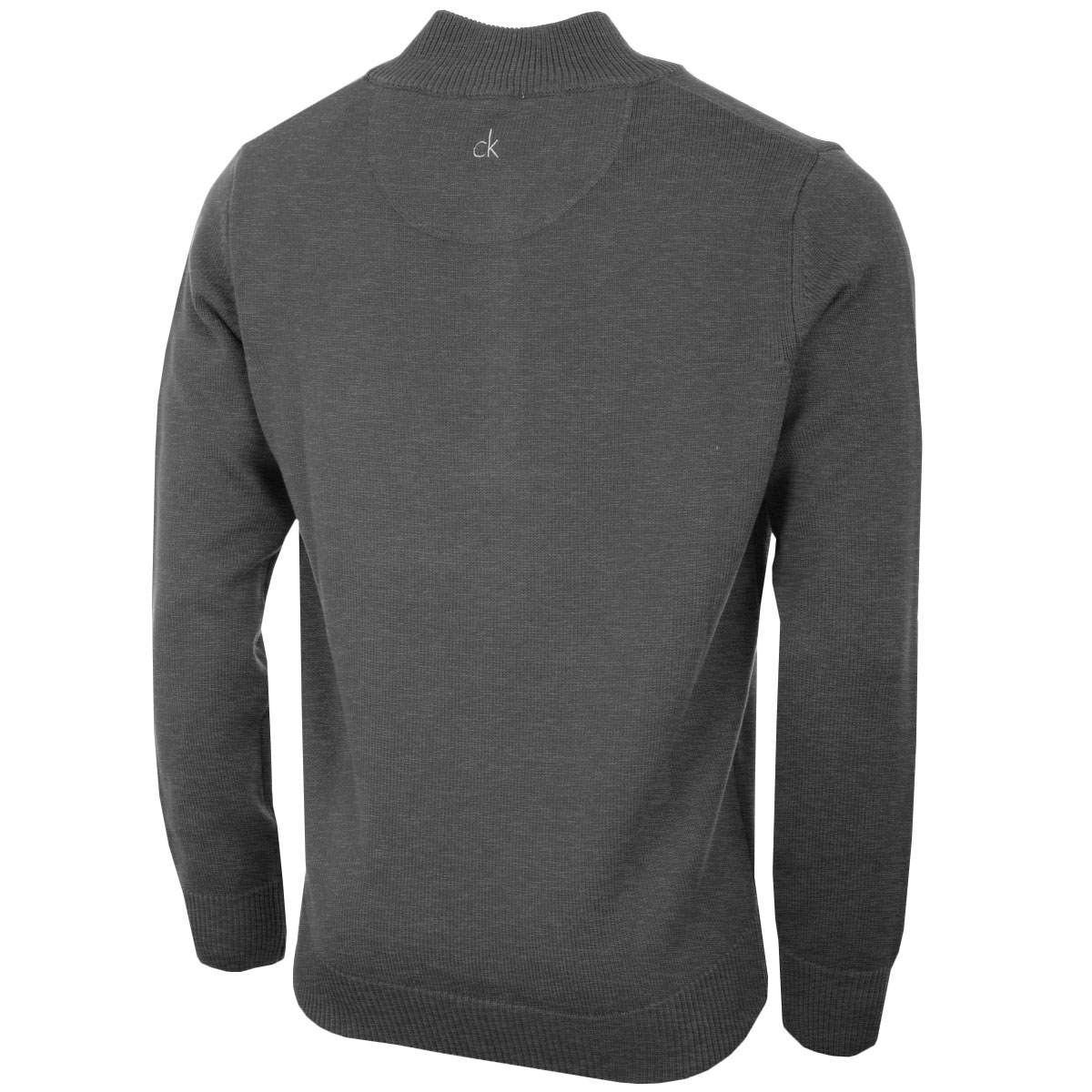 Calvin-Klein-Mens-Chunky-Knit-Cotton-1-2-Zip-CK-Golf-Sweater-25-OFF-RRP thumbnail 14