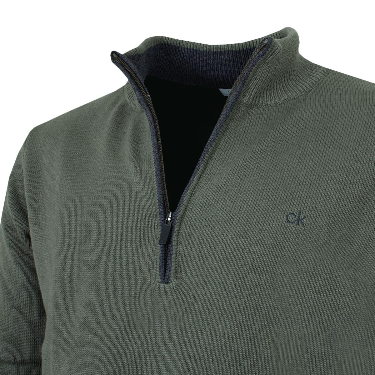 Calvin-Klein-Mens-Chunky-Knit-Cotton-1-2-Zip-CK-Golf-Sweater-25-OFF-RRP thumbnail 29