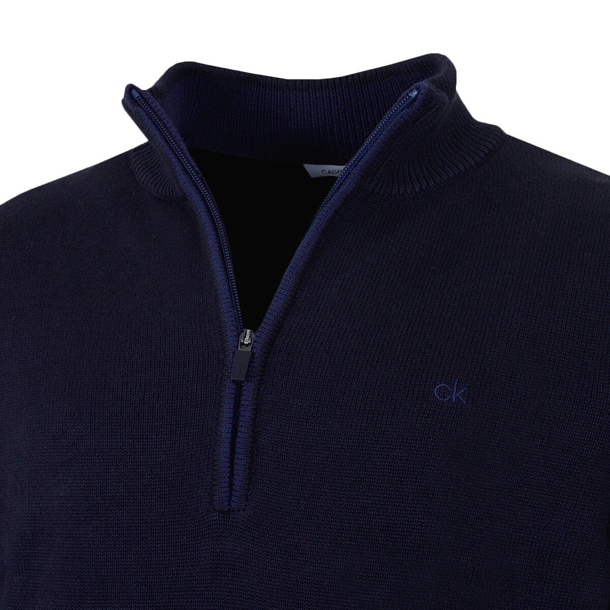 Calvin-Klein-Mens-Chunky-Knit-Cotton-1-2-Zip-CK-Golf-Sweater-25-OFF-RRP thumbnail 32