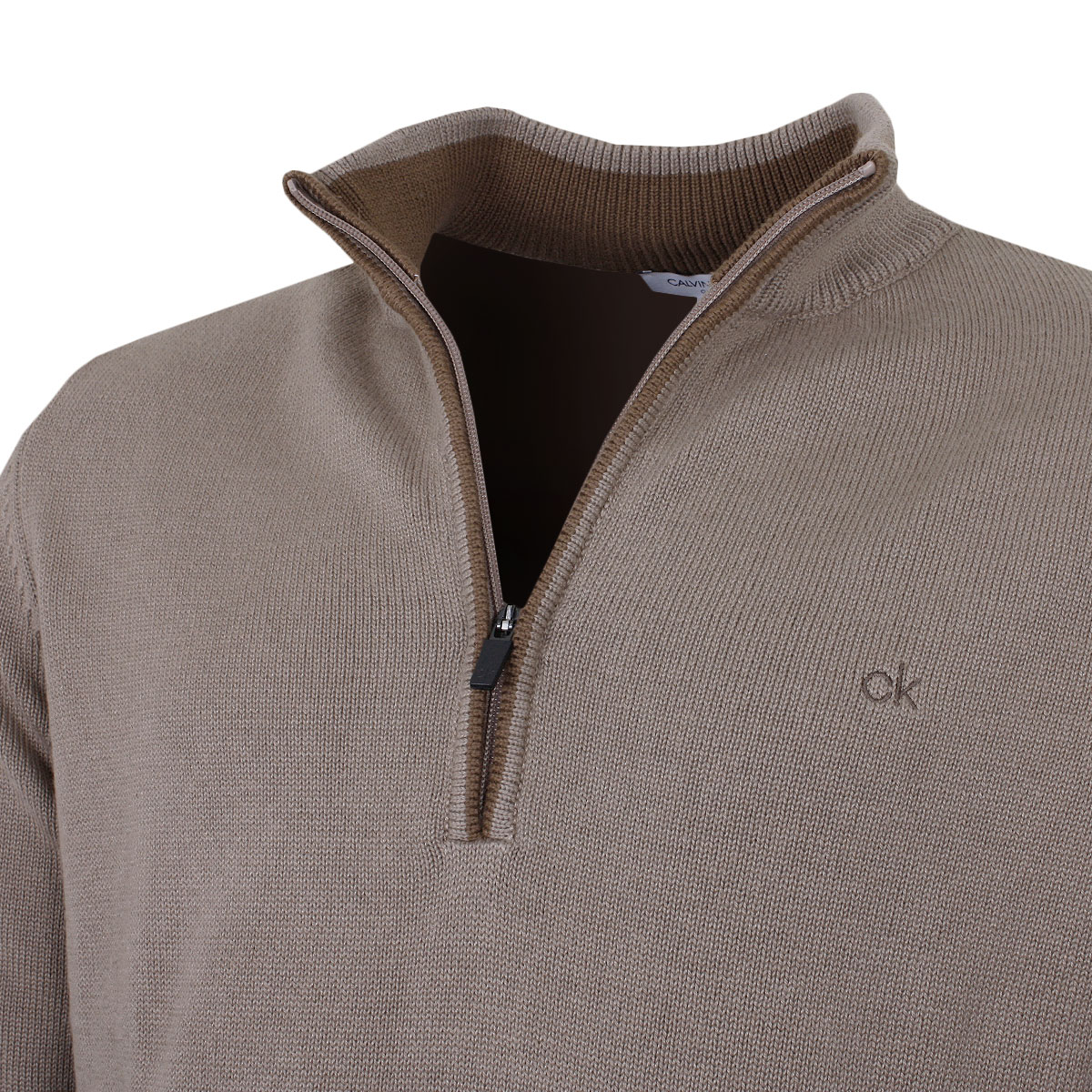 Calvin-Klein-Mens-Chunky-Knit-Cotton-1-2-Zip-CK-Golf-Sweater-25-OFF-RRP thumbnail 35