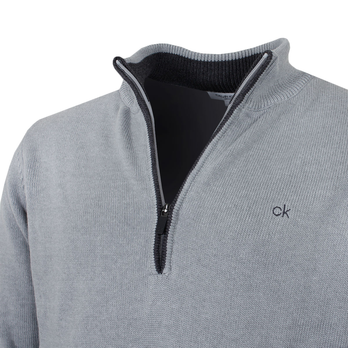 Calvin-Klein-Mens-Chunky-Knit-Cotton-1-2-Zip-CK-Golf-Sweater-25-OFF-RRP thumbnail 42
