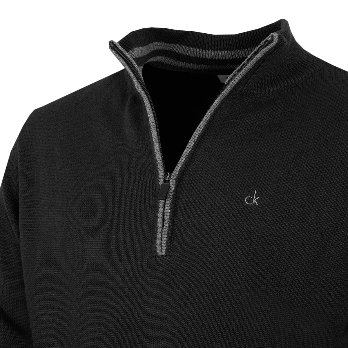 Calvin-Klein-Golf-Mens-2019-Chunky-Cotton-1-2-Zip-Golf-Top-Sweater-37-OFF-RRP thumbnail 8