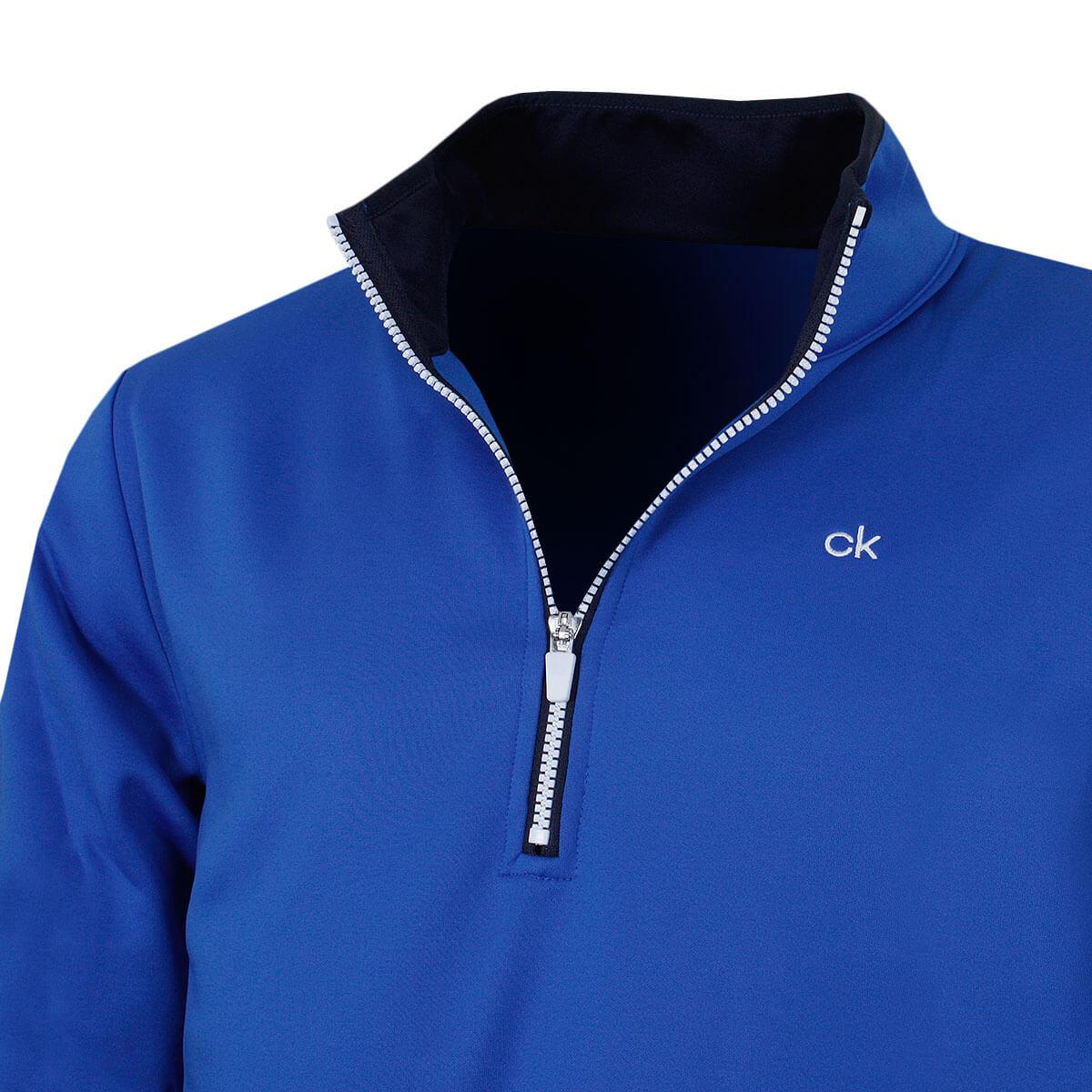Calvin-Klein-Golf-Para-Hombre-Sueter-Ligero-rendimiento-con-cremallera-de-2019-1-2-50-De-Descuento miniatura 10