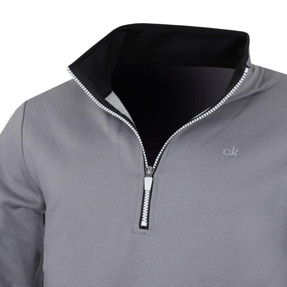Calvin-Klein-Golf-Para-Hombre-Sueter-Ligero-rendimiento-con-cremallera-de-2019-1-2-50-De-Descuento miniatura 13
