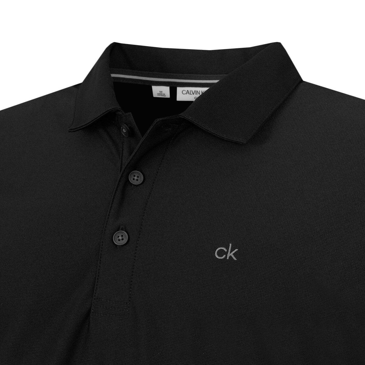 Calvin-Klein-Homme-2020-a-manches-longues-Light-Central-Golf-Polo-Shirt-45-off-RRP miniature 4