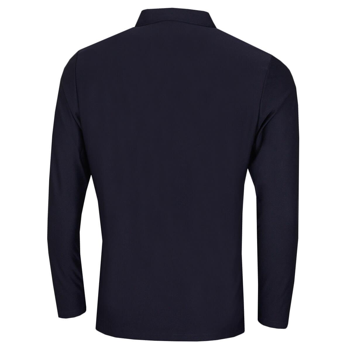 Calvin-Klein-Homme-2020-a-manches-longues-Light-Central-Golf-Polo-Shirt-45-off-RRP miniature 9