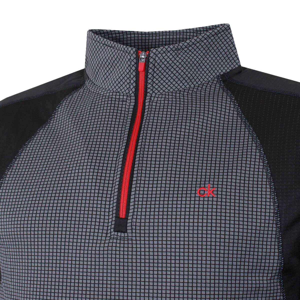 thumbnail 4 - Calvin Klein Mens 2021 Micro Grid CK 1/2 Zip Mid Layer Pullover 50% OFF RRP