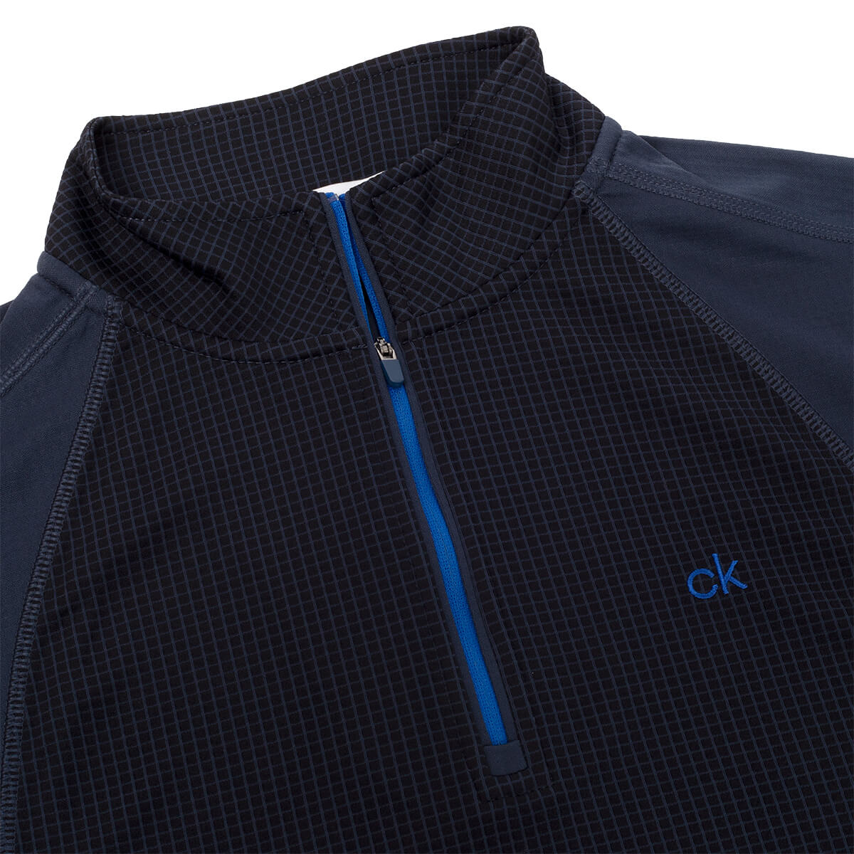 thumbnail 7 - Calvin Klein Mens 2021 Micro Grid CK 1/2 Zip Mid Layer Pullover 50% OFF RRP