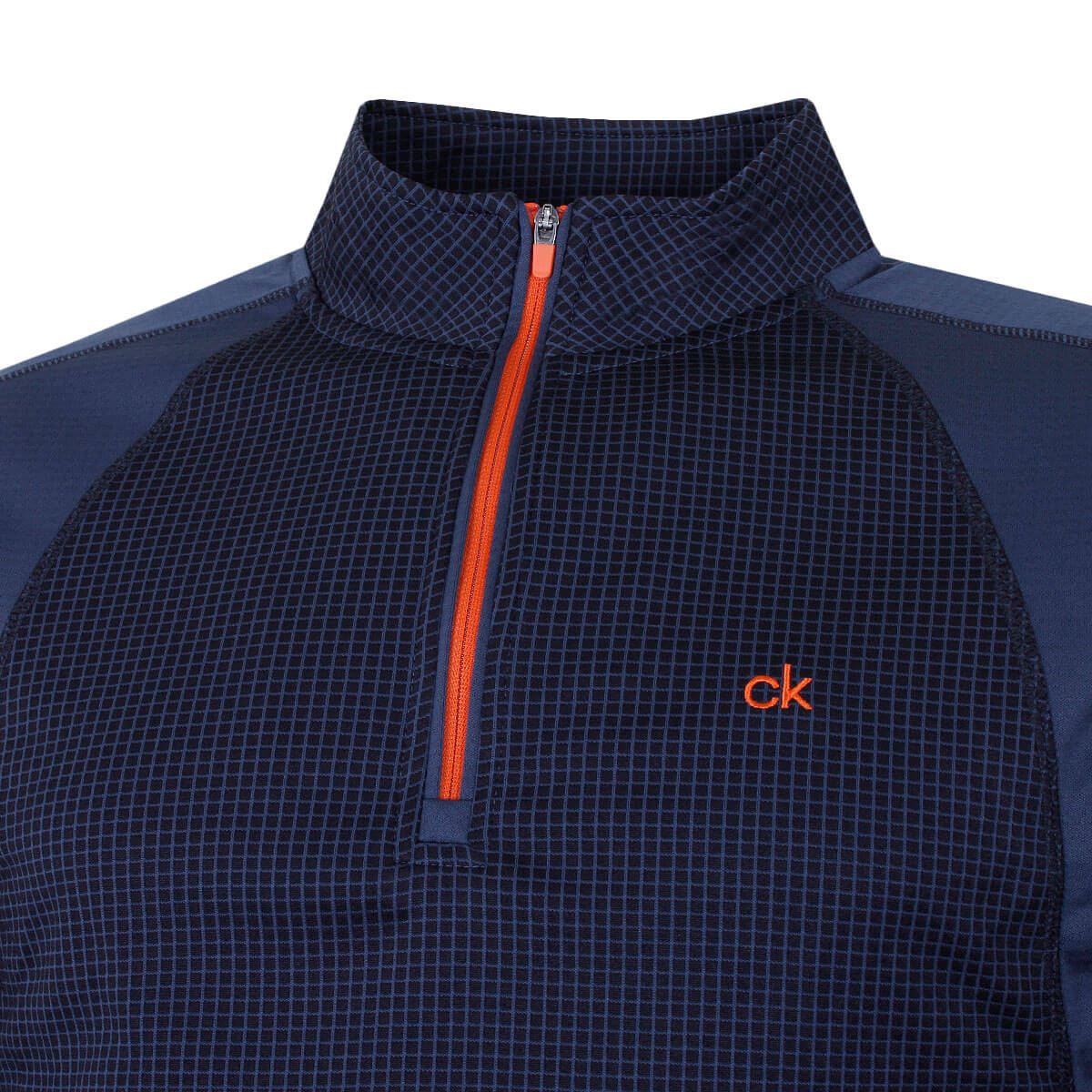 thumbnail 11 - Calvin Klein Mens 2021 Micro Grid CK 1/2 Zip Mid Layer Pullover 50% OFF RRP
